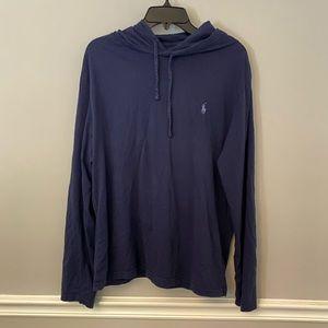 Polo Ralph Lauren blue lightweight hoodie L